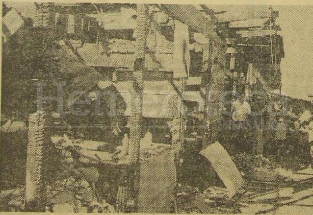 Negocios quemados en el incendio de la Terminal el 20 de enero de 1969. (Foto: Hemeroteca PL)