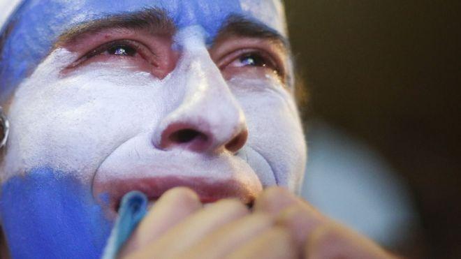 La decepciones se han ido sumando para los aficionados argentinos que temen que no lleguen al mundial por primera vez desde 1970. (Getty Images)