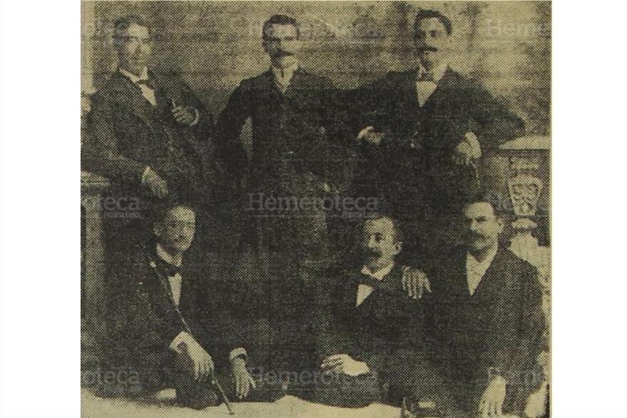 """Caballeros de Zapaca, en """"Imágenes del Recuerdo"""" de 1971. (Foto: Hemeroteca PL)"""