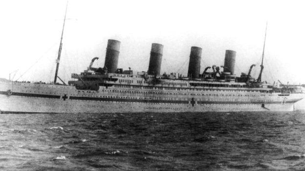 El naufragio del Britannic pasó casi sin pena sin gloria en tiempos de guerra. (WIKIMEDIA COMMONS)