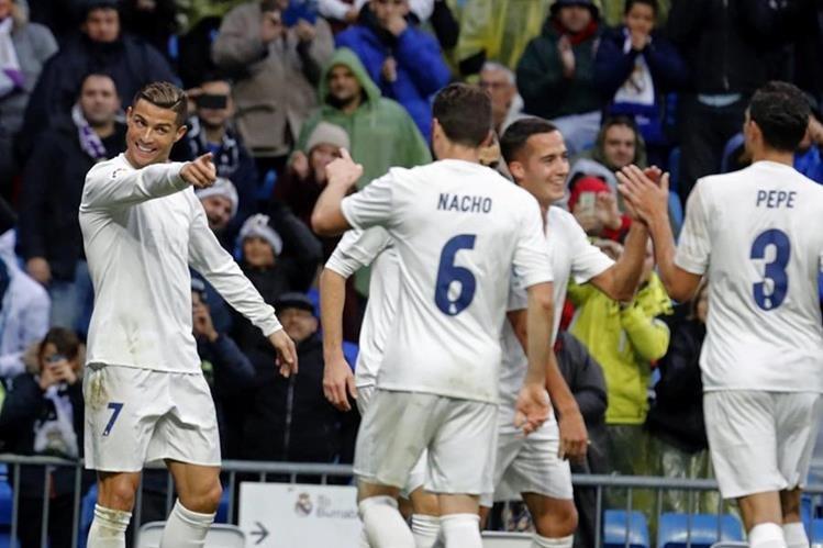 El Real Madrid no tuvo un gran partido pero Cristiano volvió a responder. (Foto Prensa Libre: EFE)