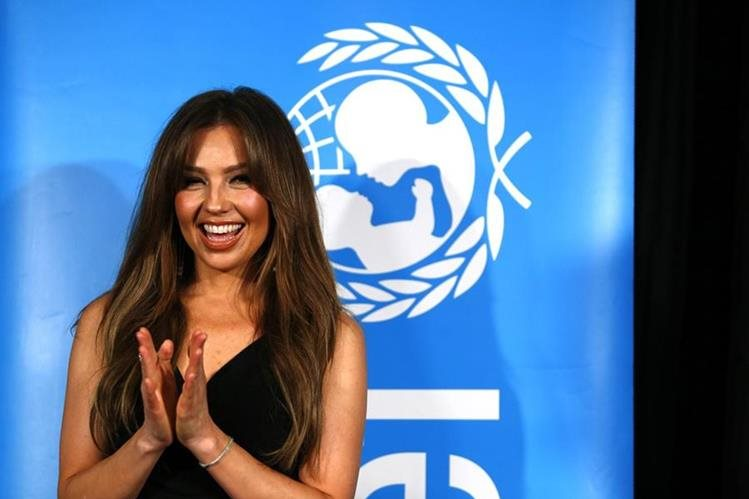 La Unicef reconoce la labor de Thalía. (Foto Prensa Libre: Hemeroteca PL)