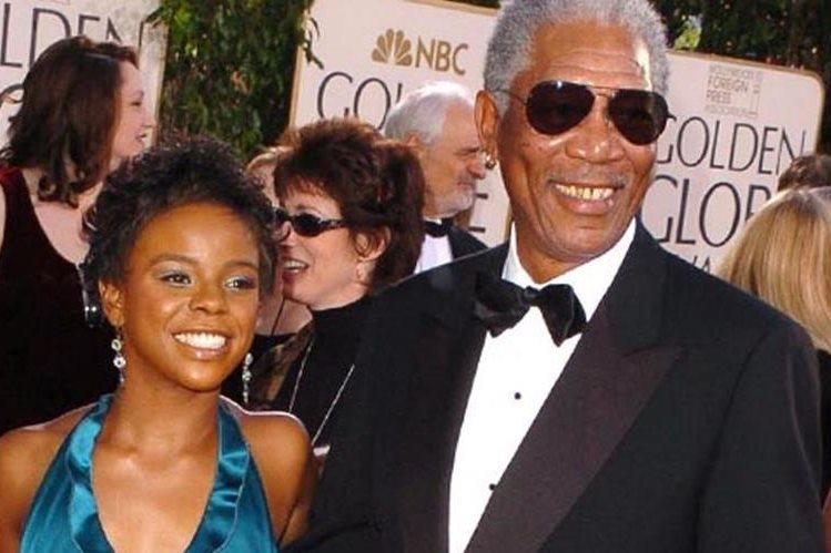 E'Dena Hines junto a Morgan Freeman. (Foto Prensa Libre: Tomada de TMZ.com)