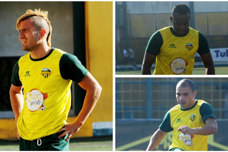 Marlon Negrete, Darwin Oliva y Janderson Pereira han sido los jugadores determinantes en las primeras cinco fechas para el Deportivo Petapa. (Fotos Prensa Libre: Edwin Fajardo)
