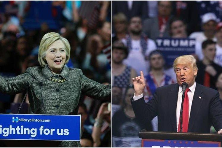 Hillary Clinton (izquierda) y Donald Trump (derecha), arrasaron en las primarias del martes en cinco estados. (Foto Prensa Libre: Agencias).
