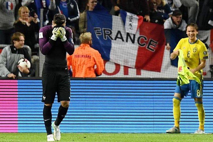Hugo Lloris, guardameta de Francia, influyó para que su equipo perdiera. (Foto Prensa Libre: EFE)