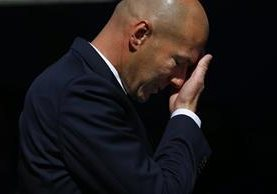 Zinedine Zidane realizó cambios muy defensivos y el Madrid pagó las consecuencias. (Foto Prensa Libre: AP)