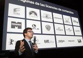 Javier Porta Fouz, gerente de Contenidos de la firma argentina, durante la presentación de la plataforma digital en Guatemala. (Foto Prensa Libre: Álvaro Interiano)