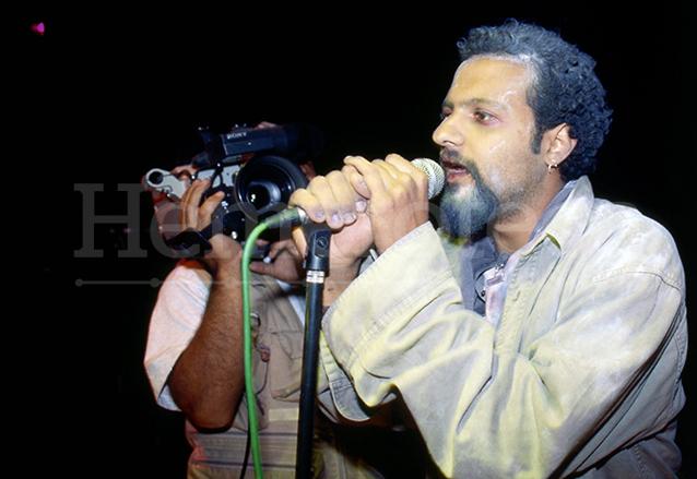 Giovanni Pinzón, vocalista de la banda Bohemia Suburbana durante su participación en Libertad de Expresión ¡Ya!. (Foto: Hemeroteca PL)
