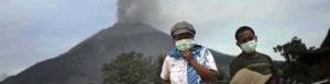 Volcán Sinabung.