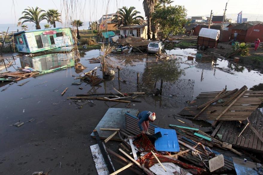 Nuevamente un fuerte sismo y un tsunami afectaron el territorio Chileno el 16/09/2015.(Foto: EFE)