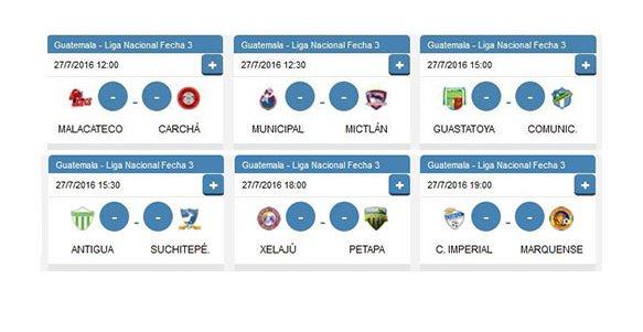 Esta es la programación de los partidos de este miércoles. (Foto Prensa Libre: Data Factory)
