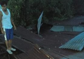 Una de las viviendas dañadas en la zona 4 de Mazatenango. (Foto Prensa Libre: Melvin J. Popá)