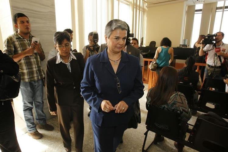 María del Rosario Melgar es acusada por la muerte de Víctor Rivera, asesor del Ministerio de Gobernación. (Foto Prensa Libre: Paulo Raquec)