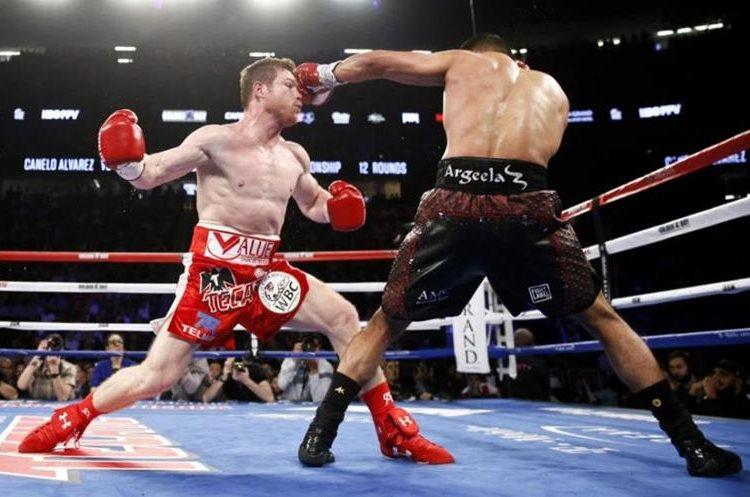 Saúl El Canelo Álvarez terminó empatado en la pelea contra Gennady Golovkin. (Foto redes).