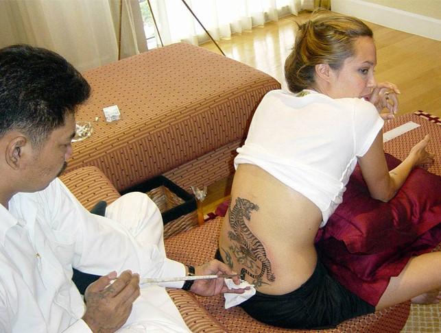 Uno de los tatuajes más llamativos de la actriz es este trigre. (Foto Prensa Libre: Hemeroteca PL)