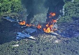 El avión accidentado es un Lockheed Martin KC-130, una aeronave cisterna de cuatro motores. (Foto Prensa Libre: @WLBT).