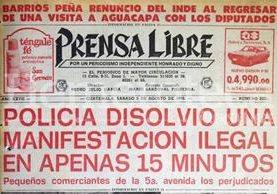 Titular del 5/08/1978 informando sobre disturbios en la capital. (Foto: Hemeroteca PL)