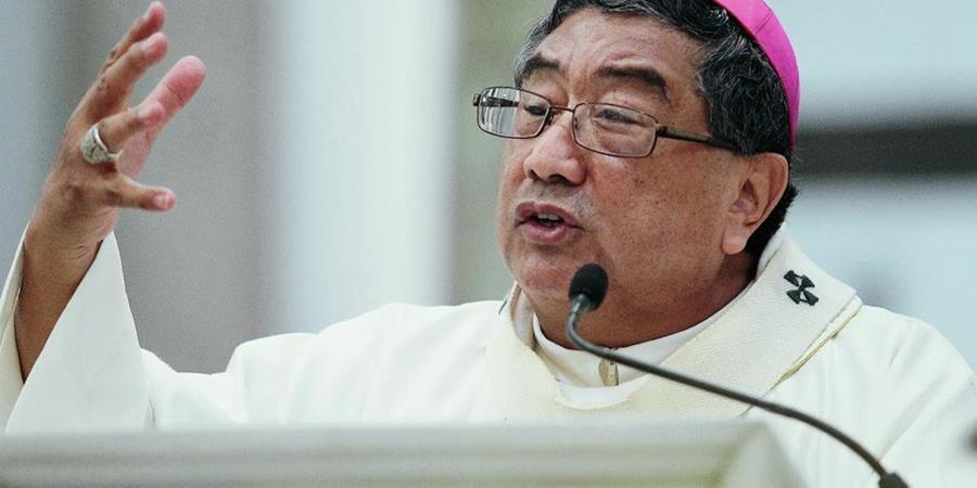 Arzobispo metropolitano Óscar Vian durante la homilía. (Foto Prensa Libre: Hemeroteca PL)