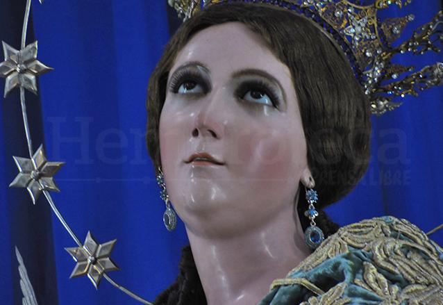 Rostro de la Inmaculada Concepción de Catedral, muy expresivo. (Foto: Néstor Galicia)