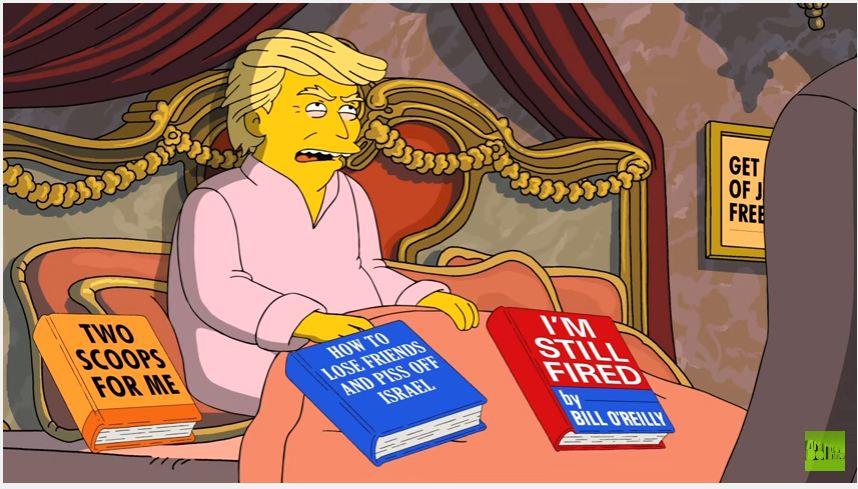 En el adelanto del episodio, Donald Trump aparece en Los Simpsons conversando con el exjefe del FBI y con Richard Nixon.