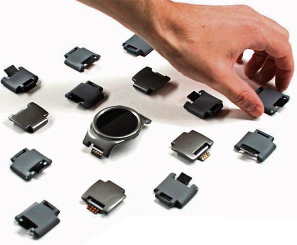 Los módulos que se le ponen al reloj añaden diferentes funciones. (Foto Prensa Libre: Chooseblocks.com)