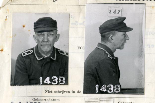 En esta imagen se ve al nazi que ofició de traductor de los soviéticos. De apellido Alscher, había aprendido ruso en Polonia. ARCHIVO NACIONAL DE HOLANDA