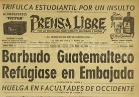 Titular de Prensa Libre del 16 de abril de 1959. (Foto: Hemeroteca PL)