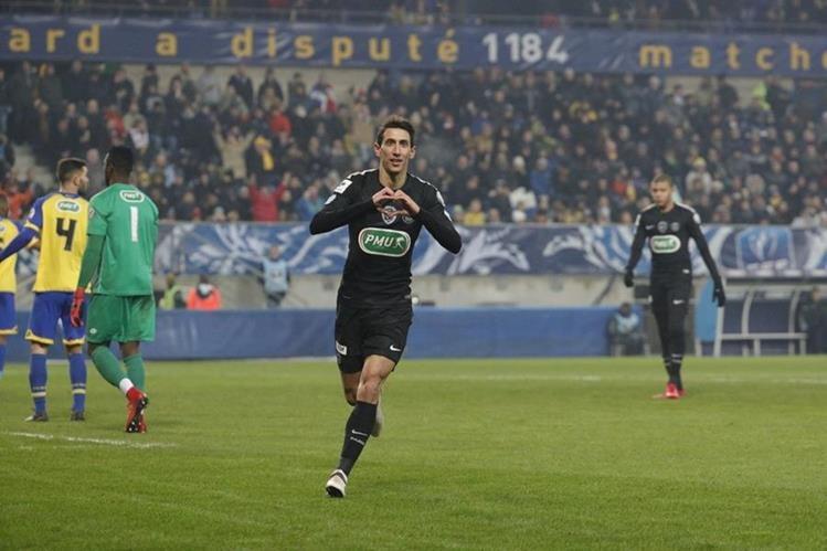 Ángel Di María atraviesa un momento goleador con el PSG. (Foto Prensa Libre: Twitter PSG)