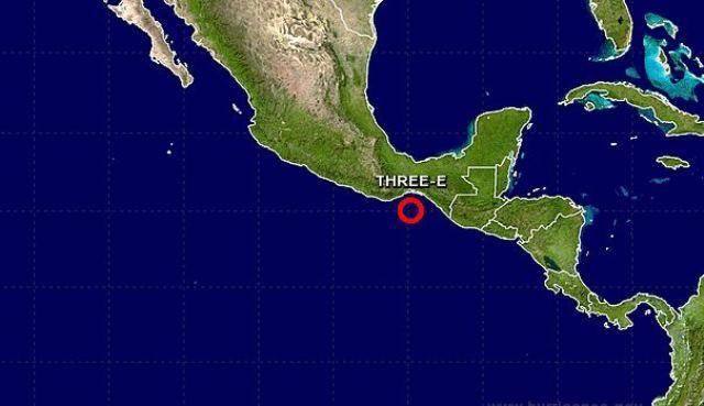 En el litoral del Pacífico se formó la Depresión Tropical 3E que generará lluvias en los próximos días. (Foto Prensa Libre: CNH)