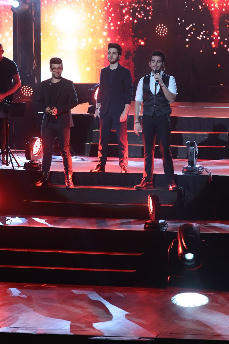 Los italianos no necesitaron de una gran orquesta para lucirse en el escenario. (Foto Prensa Libre: Álvaro Interiano)
