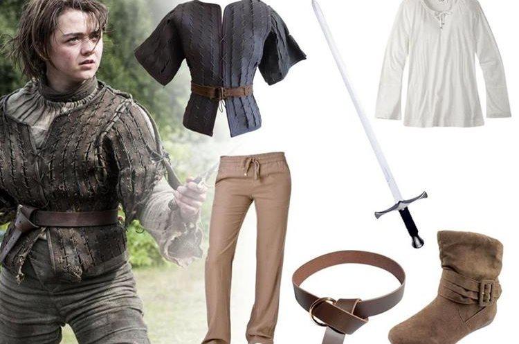 Estos 6 elementos pueden ayudarte a crear el disfraz de Arya Stark. Asegúrate de agregar algún detalle extra para resaltar. (Foto Prensa Libre: Yahoo!).
