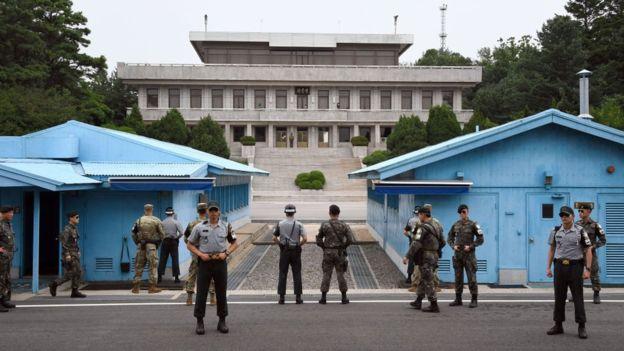 La zona desmilitarizada que divide a las Coreas es una de las áreas más fuertemente armadas del mundo. GETTY IMAGES