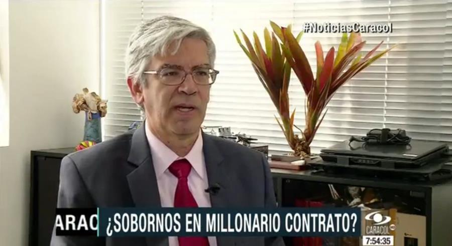 Alonso Galindo narra cómo le ofrecieron sobornos a cambio de contratos en Guatemala. (Foto Prensa Libre: Tomada de Caracol TV)