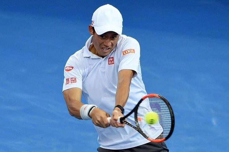 Nishikori luchará por quedarse con el título en Brisbane. (Foto Prensa Libre: AFP)