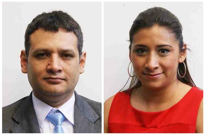 Diputados Óscar Argueta y Eva Monte fueron declarados non gratos por sus alumnos en la Universidad de San Carlos. (Foto Prensa Libre: Hemeroteca PL)