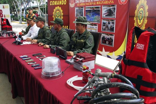 Militares venezolanos explican en conferencia de prensa detalles del operativo. FOTO: NOTICIAS AL DÍA