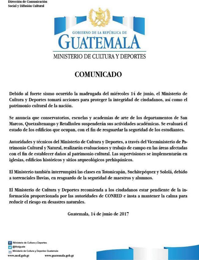 En Vivo Van Cinco V Ctimas Mortales Por Temblor En Guatemala