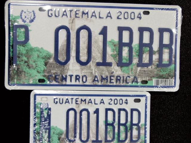 El último cambio generalizado de placas se llevó cabo en el 2004.