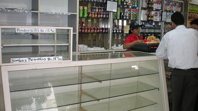 Las estanterías de las panaderías lucen vacías en Venezuela. (Foto: ABC).
