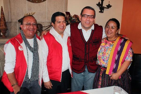 baldizón presenta a los nuevos diputados de Líder,  Francisco Mérida y Natán Rodas.
