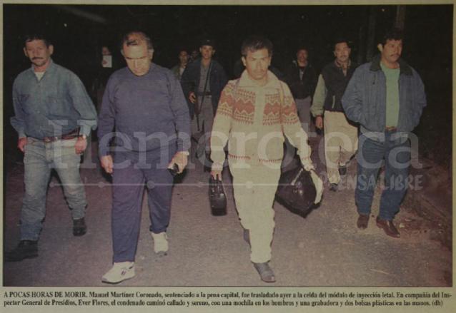 Manuel Martínez Coronado fue trasladado la noche anterior al módulo de inyección letal previo a su ejecución. (Foto: Hemeroteca PL)