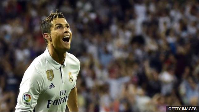 De los últimos 11 goles de Ronaldo, nueve los ha marcado de primera.
