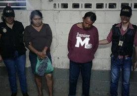 La pareja fue recapturada por robar a un recién nacido en el IGSS de Mazatenango el pasado 21 de septiembre.(Foto Prensa Libre: Melvin Jacinto Popá)