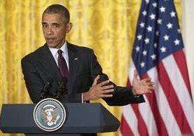 Barack Obama, presidente de EE. UU., ordena comenzar a analizar levantamiento de sanciones a Irán. Foto Prensa Libre (AP)