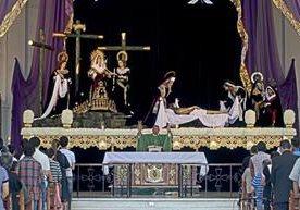 La Virgen de Dolores de San José y el Cristo del Amor fueron expuestos.