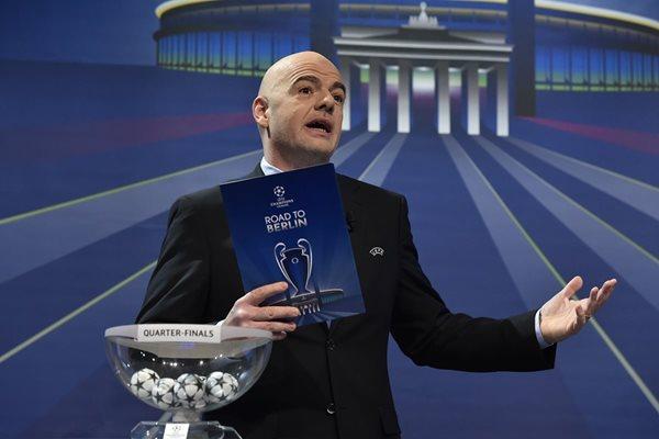 Gianni Infantino es candidato a dirigir la Federación Internacional de Futbol Asociado, Fifa. (Foto Prensa Libre: AFP)