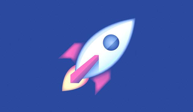 El ícono de la nueva sección de Facebook, llamada Explorar, es un cohete espacial. (Foto Prensa Libre: Facebook)