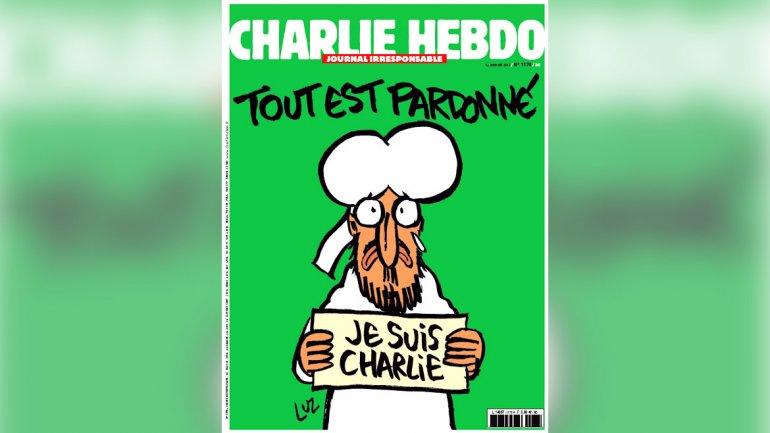 La caricatura que dibujó una semana después de los atentados tuvo una millonaria venta. (Foto Prensa Libre: Hemeroteca PL).