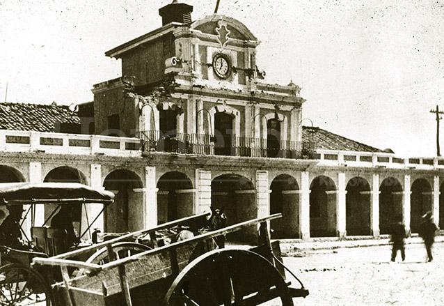 El Palacio Real, lugar donde se firmó el Acta de Independencia fue destruido por el Terremoto de 1917. (Foto: Hemeroteca PL)